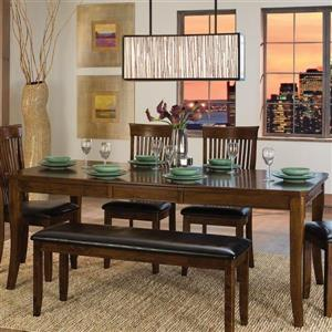 Homelegance Alita Warm cherry Composite Extending Dining Table
