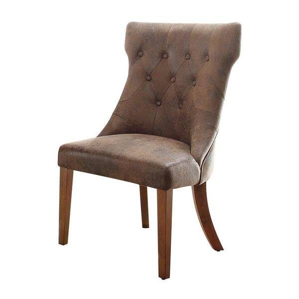 Homelegance Marie Louise Traditional Rustic Brown Side Chairs (Set of 2)