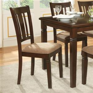 Homelegance Set of 2 Devlin Espresso Side Chairs (Set of 2)
