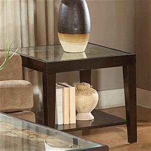 Homelegance Vincent Espresso Glass Casual End Table