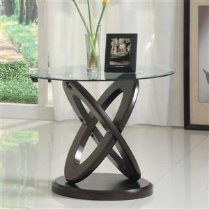 Homelegance Firth II Cherry Glass Modern End Table
