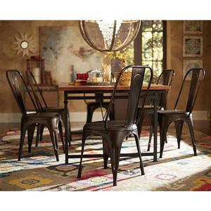 Homelegance Amara Contemporary Amara rust Metal Side Chairs (Set of 4)