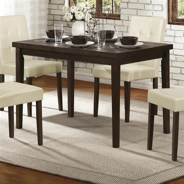Homelegance Ahmet Espresso Wood Dining Table