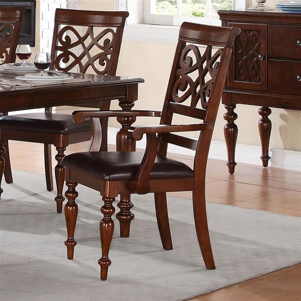 Homelegance Creswell Traditional Dark Brown Arm Chairs (Set of 2)