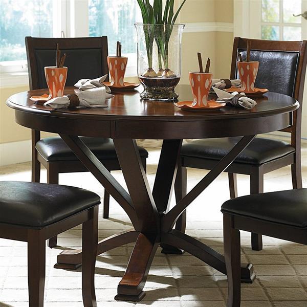 Homelegance Helena Deep cherry Wood Round Dining Table