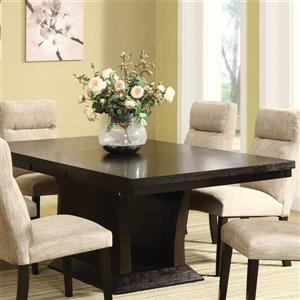 Homelegance Avery Rich espresso Composite Extending Dining Table