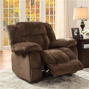 Homelegance Laurelton Chocolate Microfiber Recliner