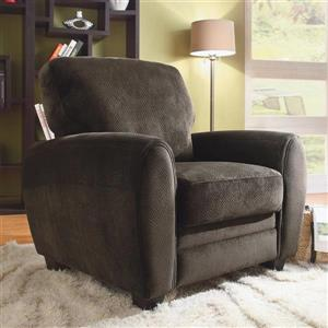 Homelegance Rubin Casual Chocolate Microfiber Club Chair