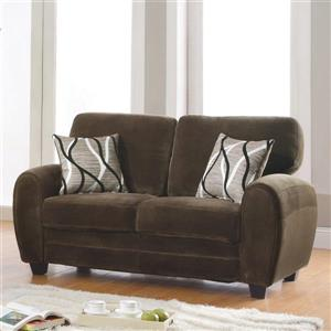 Rubin Casual Chocolate Loveseat
