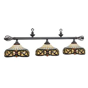 RAM Game Room Products 34-B60 3-Light Harmony Billiard Island Light Bronze