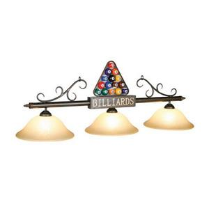 RAM Game Room Products 3-Light Billiards Billiard Island Light Bronze