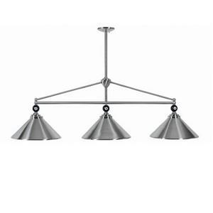 RAM Game Room Products 3-Light Empire Billiard Island Light Stainless Steel