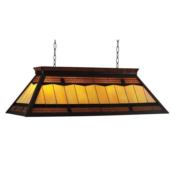 RAM Game Room Products 4-Light Billiards Table Island Light Filigree/Yellow