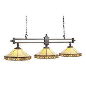RAM Game Room Products 3-Light Mission Filigree Billiard Island Light