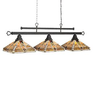 RAM Game Room Products 3-Light Taliesin Billiard Island Light Matte Black