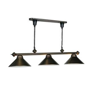 RAM Game Room Products 3-Light Retractable Billiard Island Light Bronze