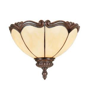 RAM Game Room Products Seville 12-in Cream 1 Light Pocket Wall Sconce