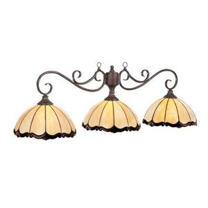 RAM Game Room Products 3-Light Seville Billiard Island Light Brown/Bronze