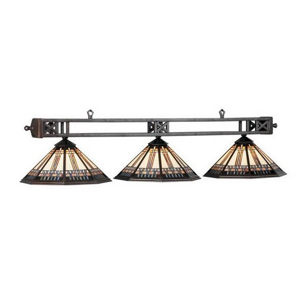 RAM Game Room Products 3-Light Winslow Billiard Pool Table Light Bronze