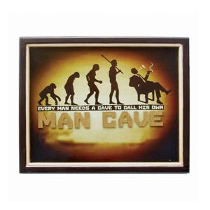 Framed Cave to Call His Own Sign 16-in x 20-in Wall Art