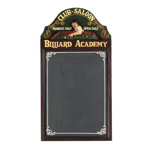 RAM Game Room Products Billiard Academy 16-in x 29-in Chalkboard Sign