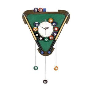 RAM Game Room Products  Triangle Hand Painted Game Room Billiard Wall Clock