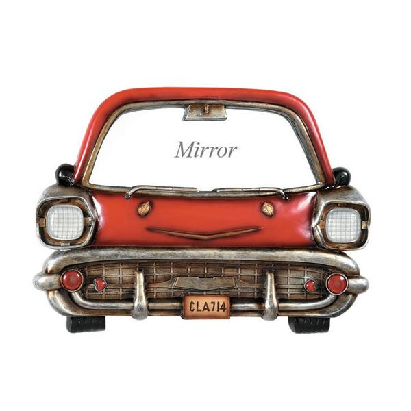 RAM Game Room Products Framed Red Car Glass Sculpture 18in x 24.5-in