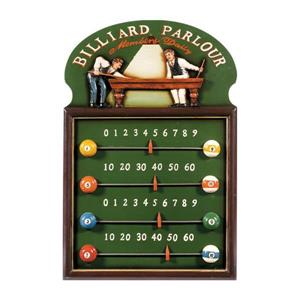 RAM Game Room Products Framed Billiard parlour 16-in x 24-in Score Keeper Sign