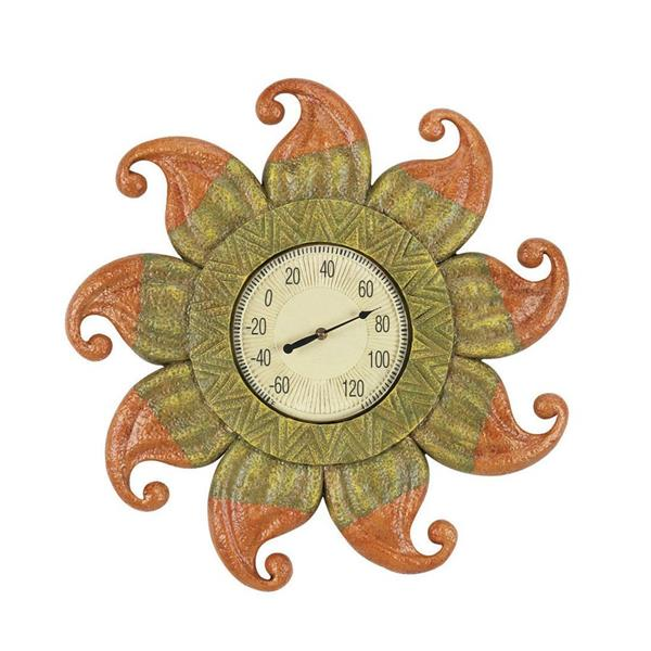 RAM Game Room Products Wireless Indoor/Outdoor Handpainted Sun Thermometer