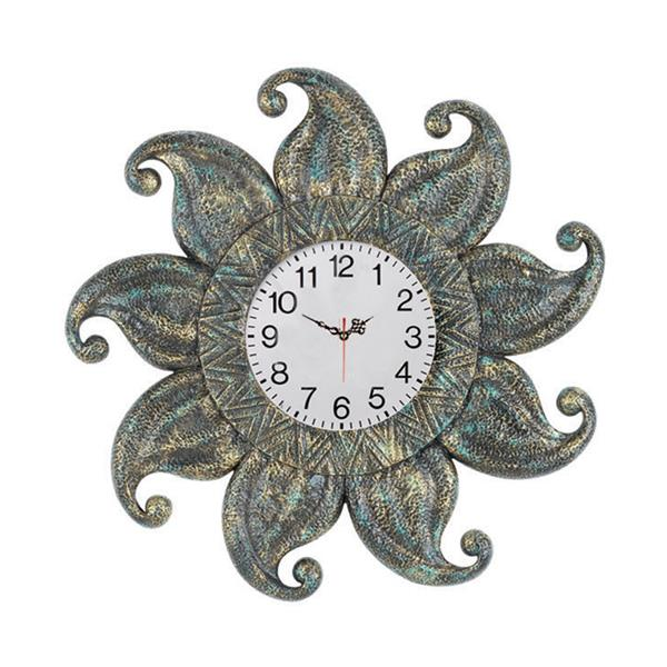RAM Game Room Products Grey Hand Painted Dark Sun Outdoor Clock