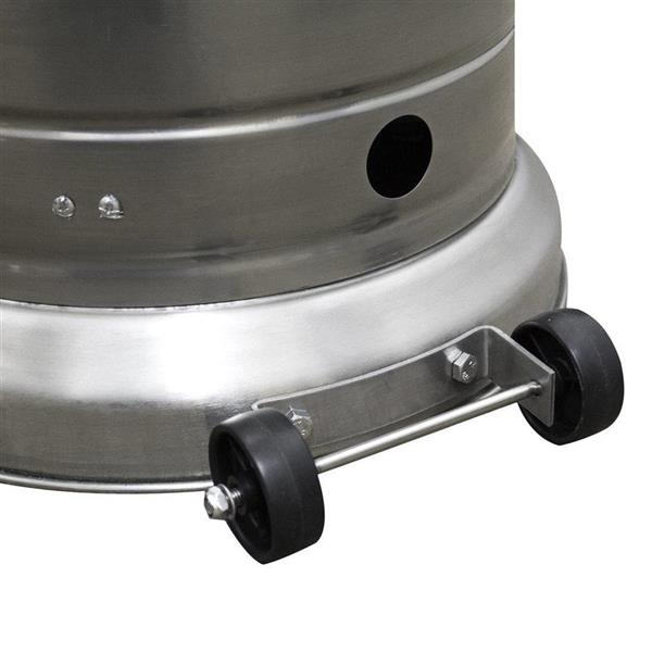 AZ Patio Heater 41000-BTU Stainless Steel Floorstanding Liquid Propane Patio Heater