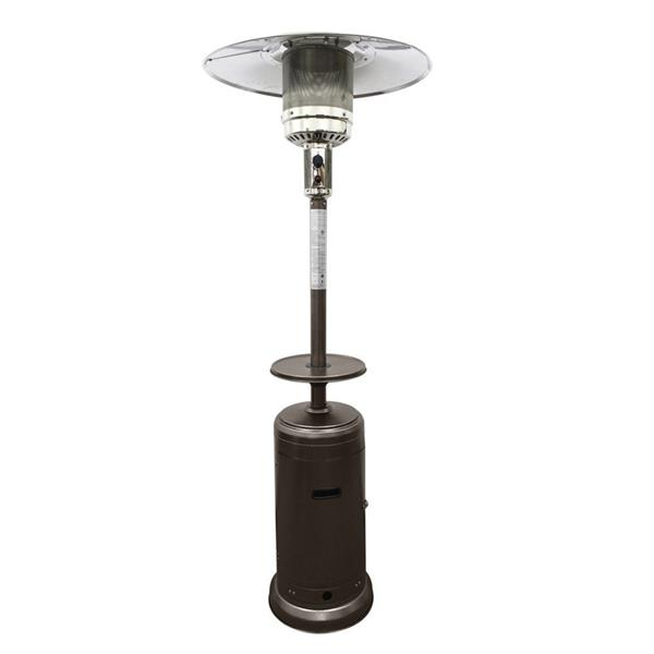 AZ Patio Heater 41000-BTU Hammered Bronze Steel Floorstanding Liquid Propane Patio Heater