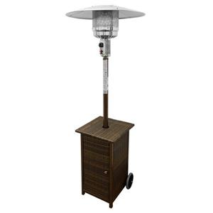AZ Patio Heater 41000-BTU Mocha Steel Floorstanding Liquid Propane Patio Heater