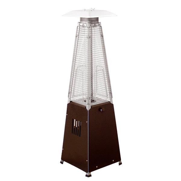 AZ Patio Heater 9500-BTU Hammered Bronze Steel Tabletop Liquid Propane Patio Heater