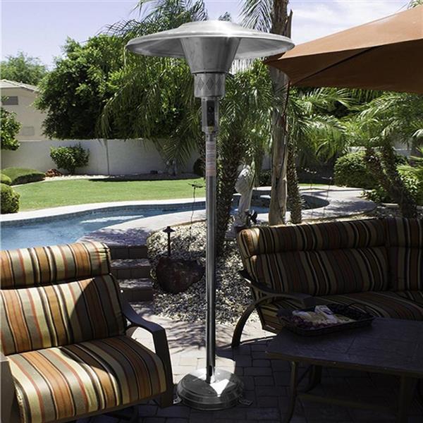 AZ Patio Heater 45000-BTU Stainless Steel Floorstanding Natural Gas Patio Heater