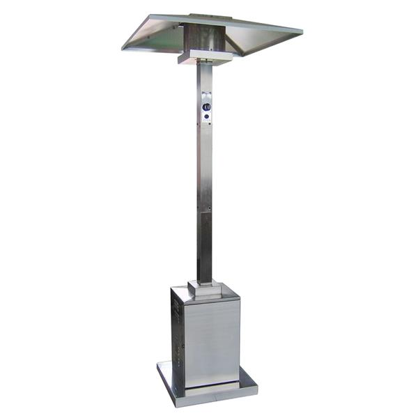 AZ Patio Heater 38000-BTU Stainless Steel Floorstanding Liquid Propane Patio Heater