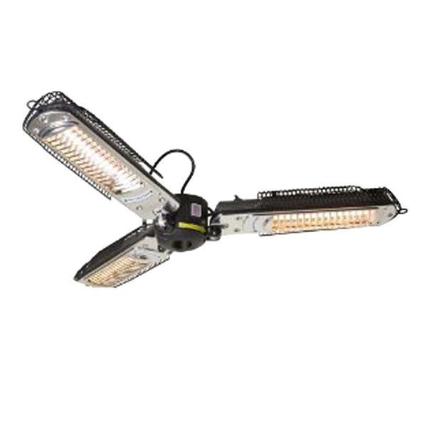 AZ Patio Heater 24-in Black 5,118 BTU Aluminum Outdoor Parasol Infrared Heat Lamp