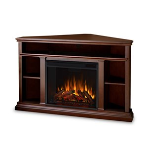 Real Flame 50.75-in W Dark Espresso LED Electric Fireplace