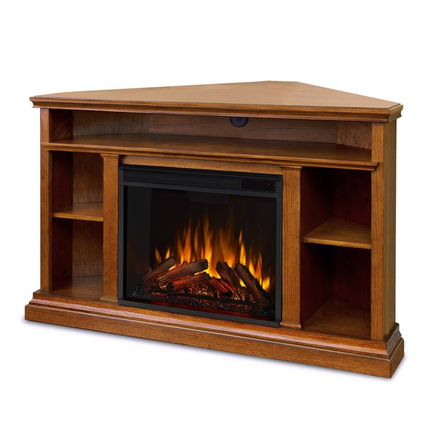 Real Flame 50.75-in W Oak LED Electric Fireplace