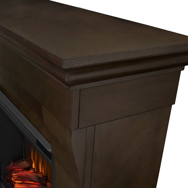 Real Flame 40.9-in W Dark Walnut LED Electric Fireplace