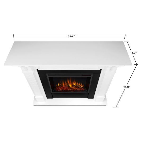 Real Flame 48-in W White LED Electric Fireplace