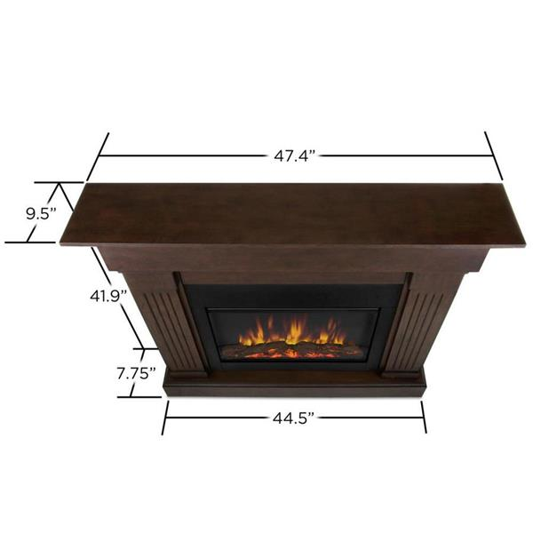 Real Flame 47.4-in W Chestnut Oak LED Electric Fireplace