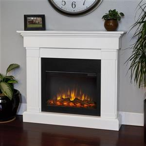 "Real Flame Crawford Electric Fireplace- 47.4"" x 41.9""- White"