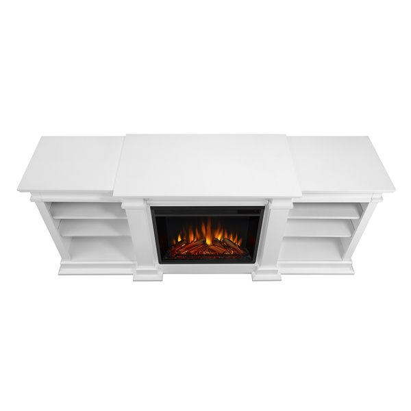 """Real Flame Fresno Indoor Electric Fireplace - 72"""" - White"""
