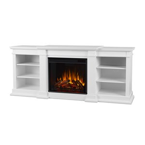 "Real Flame Fresno Indoor Electric Fireplace - 72"" - White"