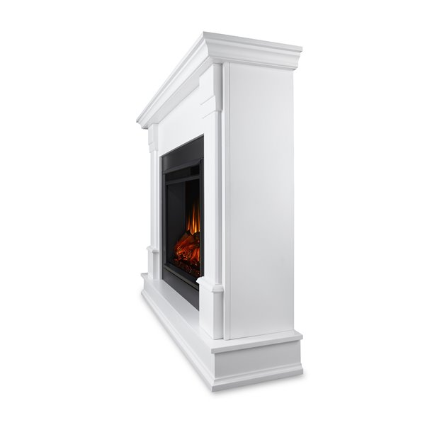 "Real Flame Silverton Indoor Electric Fireplace - 48"" - White"