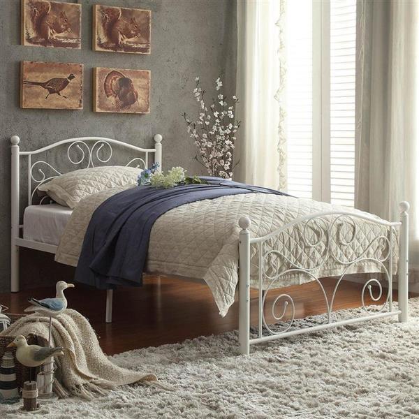 Homelegance Pallina White Twin Platform Bed