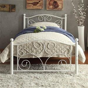 Homelegance Pallina White Twin Platform Bed