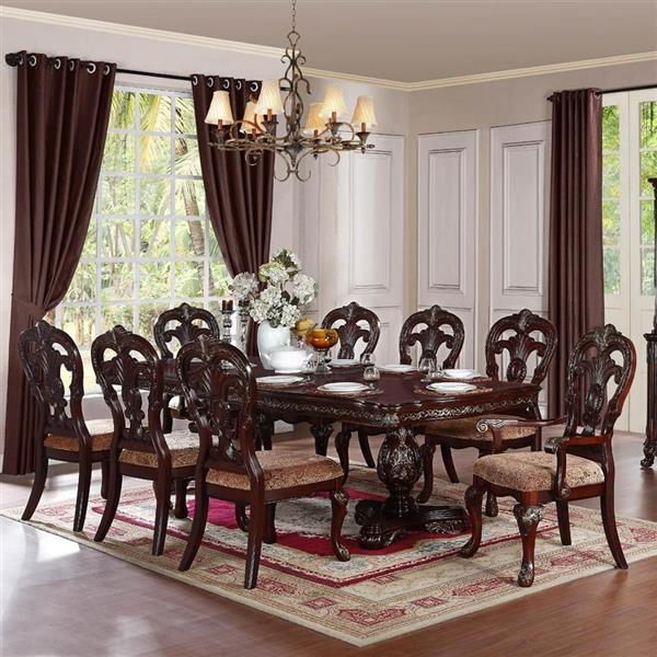Homelegance Deryn Park Cherry Composite Extending Dining Table