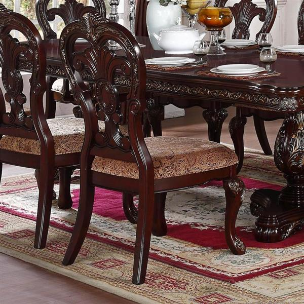 Homelegance Deryn Park Traditional Black/Richly Hued Side Chairs (Set of 2)